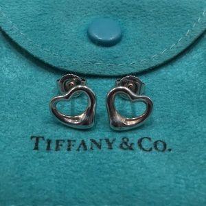 Tiffany Sterling Open Heart Earrings